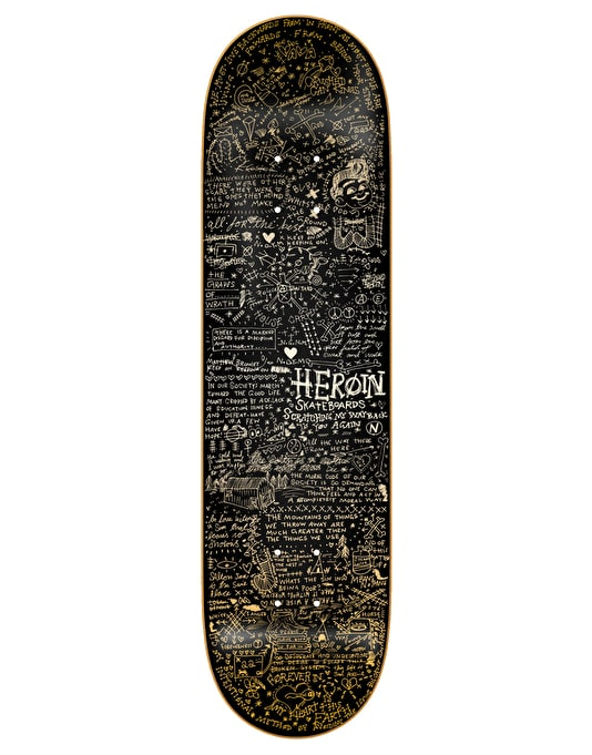Heroin Black Scratches Team Deck - 8.38""