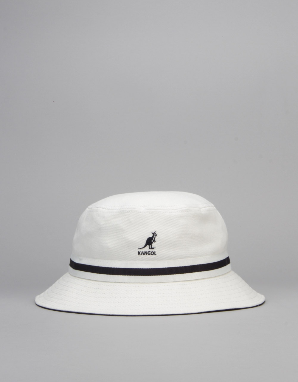 acf0d7f66ee Kangol Stripe Lahinch Bucket Hat - White