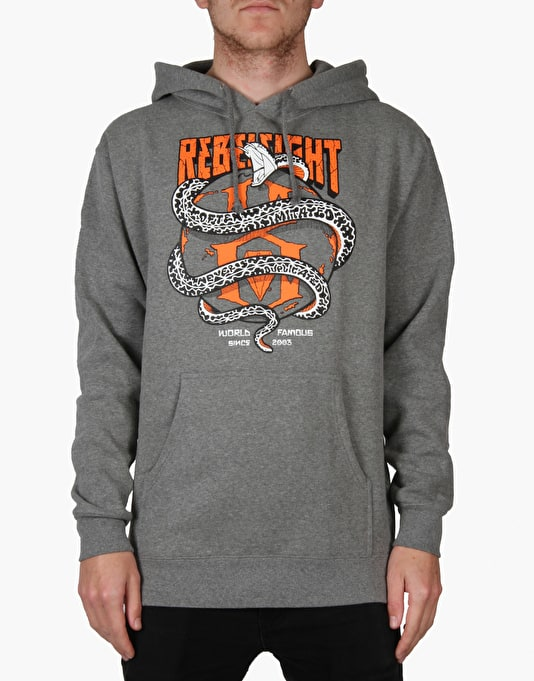Rebel8 World Famous Pullover Hoodie - Gun Metal