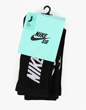 Nike SB Crew Socks 3 Pack - Black/White
