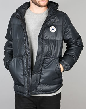 Converse Core Short Hodded Puffer Jacket - Black