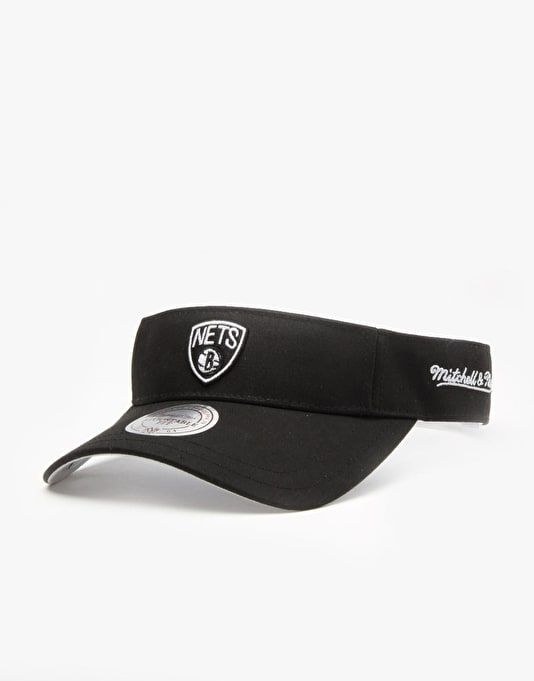 Mitchell & Ness NBA Brooklyn Nets Summer Visor Cap - Black