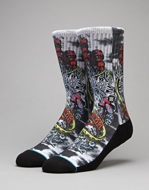 Stance Skate Legends 'Poseidon Redux' Socks - White