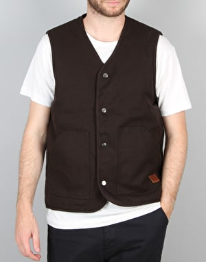 Brixton Anchor Vest - Washed Black/Blue