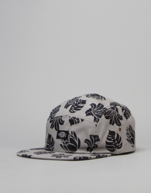 Dickies Oroville 5 Panel Cap - Grey Melange Leaf