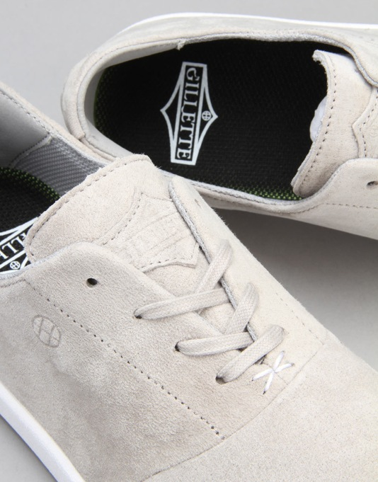 HUF Gillette Skate Shoes - Light Grey