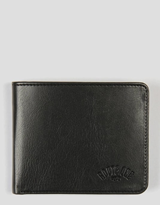 Route One Bi-Fold Wallet - Black