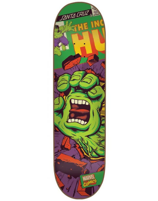 Santa Cruz x Marvel The Incredible Hulk Hand Team Deck - 8.26""