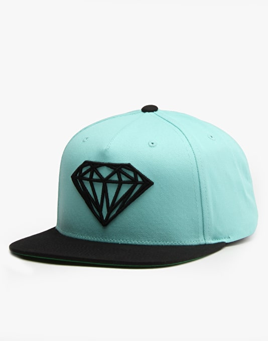 Diamond Supply Co. Brilliant Snapback Cap - Diamond Blue/Black