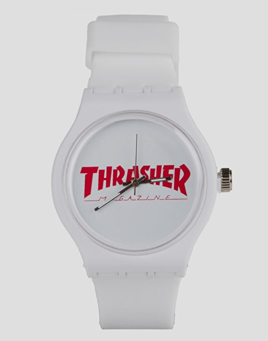 Thrasher Magazine Logo Watch - White