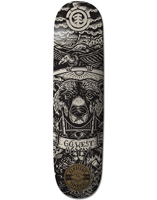 Element x Timber! Seal Centre Featherlight Naturals Team Deck - 8""