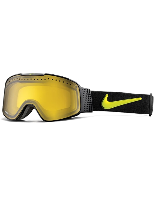 Nike SB Fade 2016 Snowboard Goggles - Black/Cyber - Transitions Yellow
