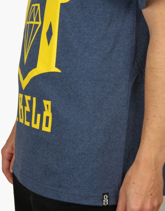 Rebel8 Logo T-Shirt - Heather Navy