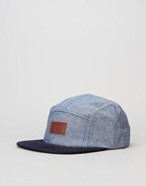 Brixton Grade 5 Panel Cap - Light Blue/Navy