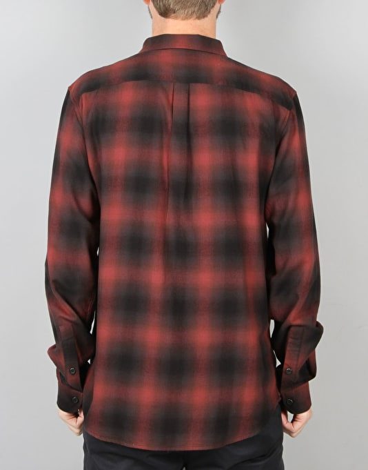 Globe Exchange L/S Shirt - Oxblood