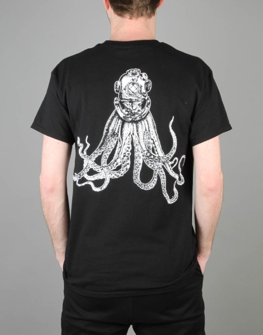 Scarred For Life Octohelmet T-Shirt - Black