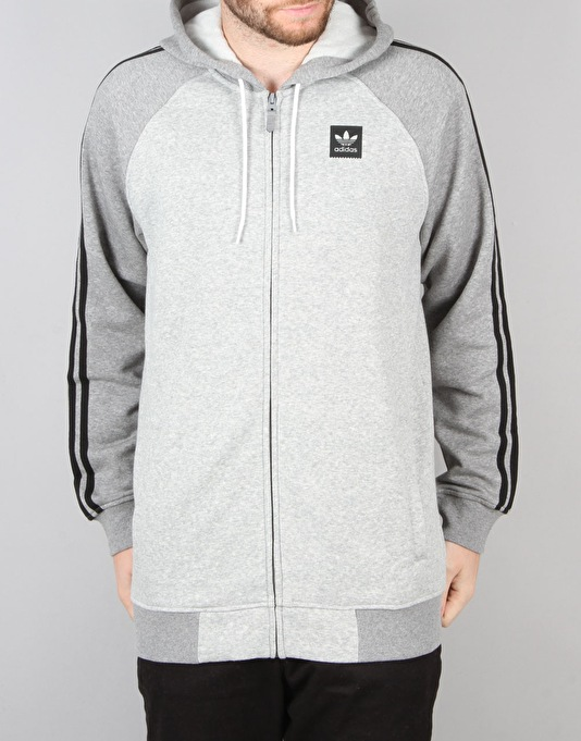 Adidas AS Hood Track Jacket - Medium Grey Heather