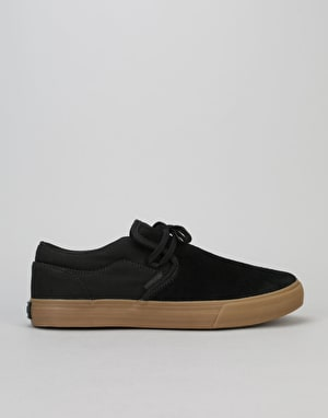 Supra Cuba Skate Shoes - Black/Gum