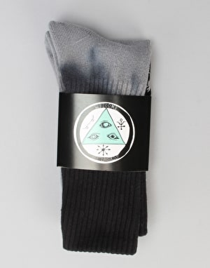 Welcome Sigil Dip-Dye Socks - Black/Grey