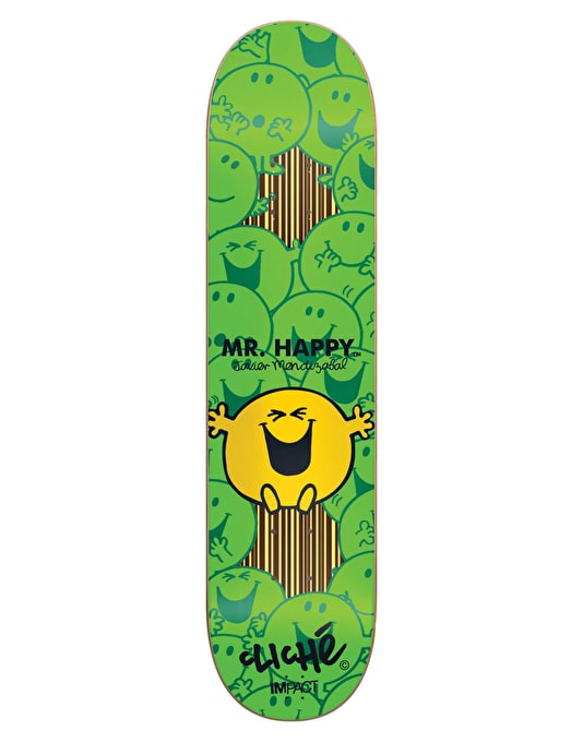 Cliché x Mr. Men Mendizabal Mr. Happy Impact Support Pro Deck - 7.75""
