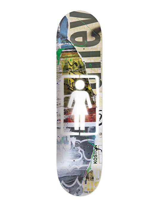 Girl Koston Post No Bills Pro Deck - 8.25""