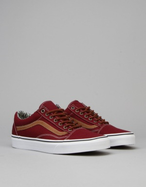 Vans Old Skool Skate Shoes - (C&L) Port Royale/Stripe Denim