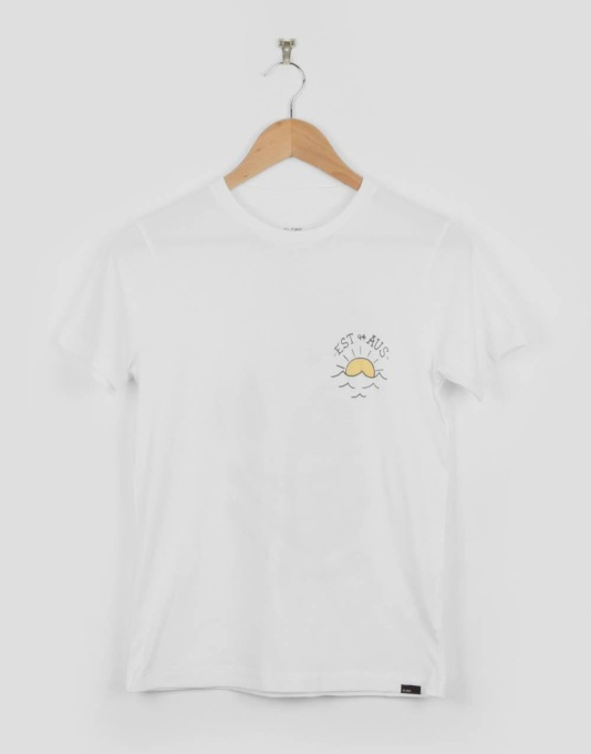 Globe Est. At Sea Boys T-Shirt - White Cooler
