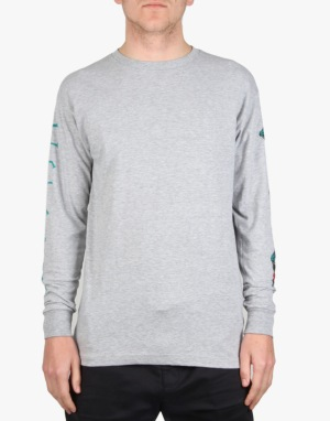 Welcome Tasmanian L/S T-Shirt - Heather/Teal