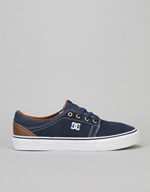 DC Trase S Skate Shoes - Navy/Dark Chocolate