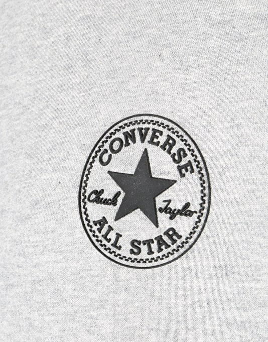 Converse Block Fleece Crew - Black Heather