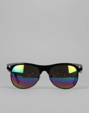 Glassy Sunhater Shredder Sunglasses - Black/Colour Mirror
