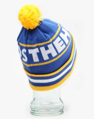 The Hundreds Face Off Bobble Beanie - Blue