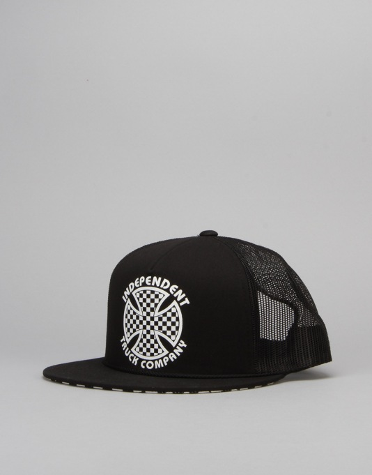 Independent Cross Check Mesh Cap - Black