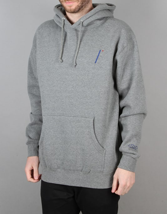 Isle i Logo Hooded Sweat - Heather Grey