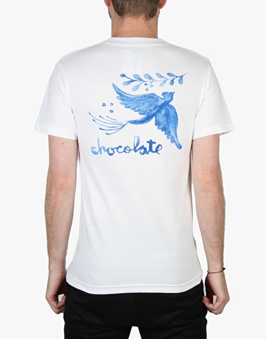 Chocolate Talavera Bird T-Shirt - White
