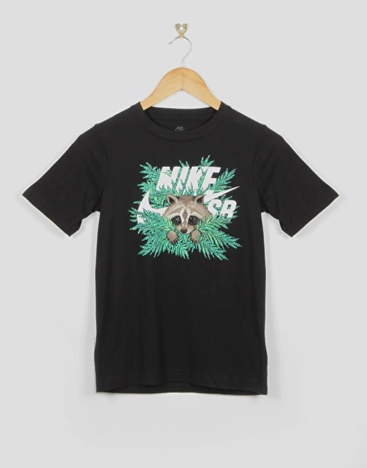 Nike SB Raccoon Fern Icon Boys T-Shirt - Black