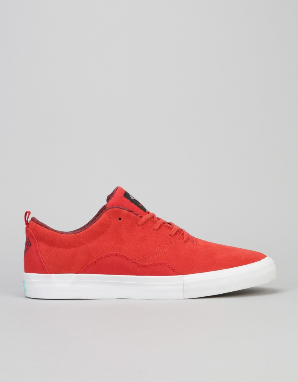 8dfd248f11 Diamond Supply Co. Lafayette Skate Shoes - Red Suede