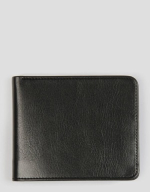 Route One Bi-Fold Wallet With Pocket - Black