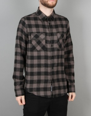 Emerica Gutter Flannel L/S Shirt - Black