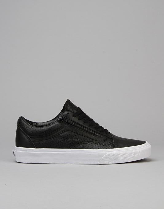 Shoesperf Zip Skool Skate LeatherBlack Vans Old FKcl1J