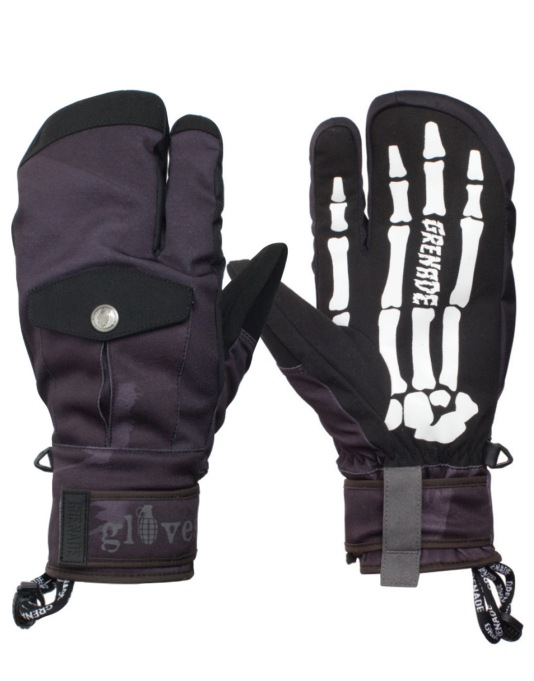 Grenade Scorpion 2016 Snowboard Mitts - Black