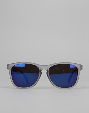 Glassy Sunhater Deric Sunglasses - Trans Grey/Blue Mirror