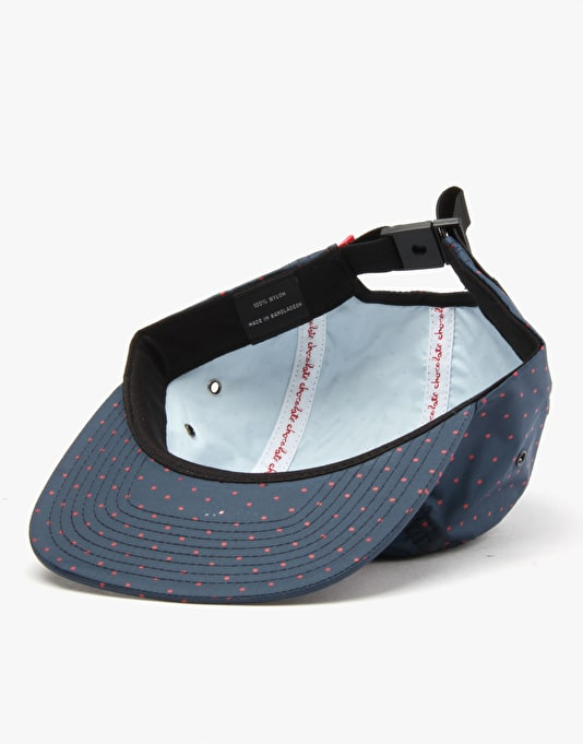 Chocolate Square Pattern 5 Panel Cap - Navy