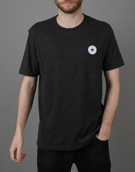 Converse Core Left Chest CP Crew T-Shirt - Converse Black Heather