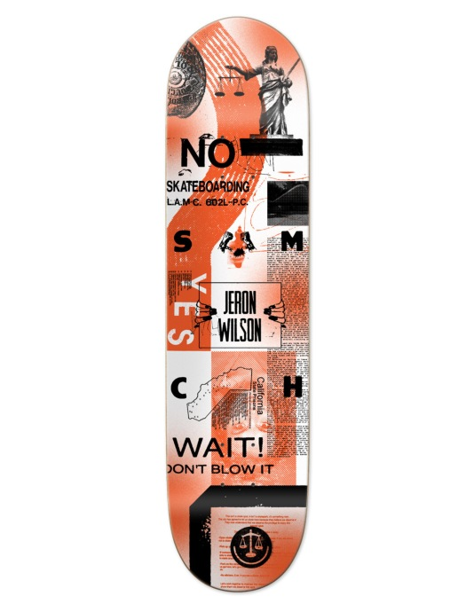 Girl x LA8 x The Art Dump Wilson SM Courthouse Pro Deck - 7.875""
