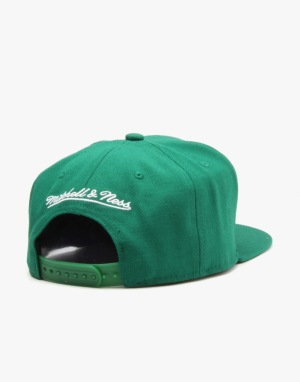 Mitchell & Ness NBA Boston Celtics Title Snapback Cap - Green/White