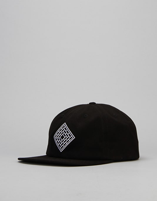 The National Skateboard Co. Unstructured 6 Panel Cap - Black