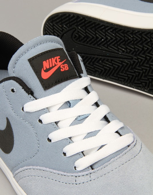 Nike SB Check Boys Skate Shoes - Blue Grey/Black/Bright Crimson/White