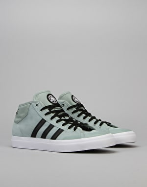 Adidas x Welcome Matchcourt Mid Skate Shoes - Mist Slate/Black/White