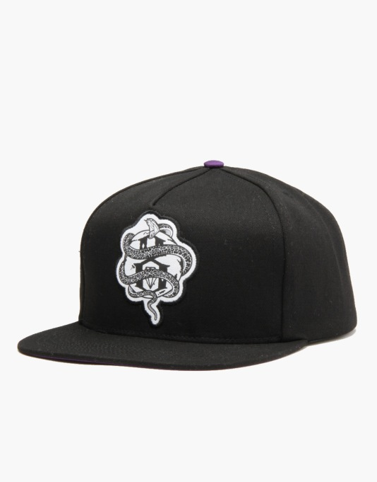 Rebel8 World Famous Snapback Cap - Black/Purple